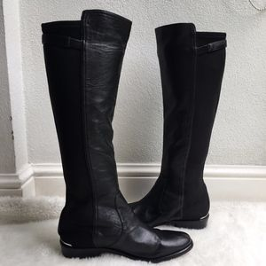 Coach Lilac Black Tall Leather Boots Size 6B